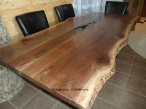 table en noyer 227