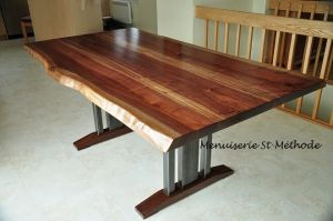 table en noyer noir live edge-24